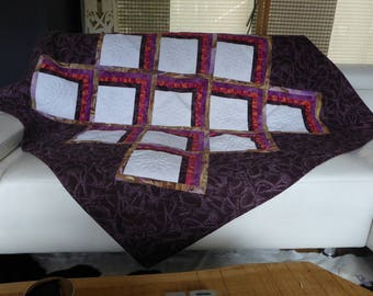 Plaid purple couch throw Quilt by the treasures of Pabanal Dalhias