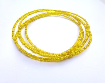 Oshun Godess African Waist Beads - Belly Chain - Belly Beads - With Clasps