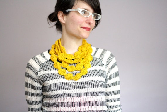 Items Similar To Knitting Pattern Pdf File Necklace Cowl On Etsy