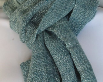 Spruce - hand woven, hand spun, blue faced leicester and Merino wool, tencel, and bamboo