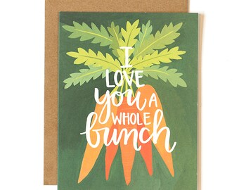 Love You a Whole Bunch Illustrated Card // 1canoe2