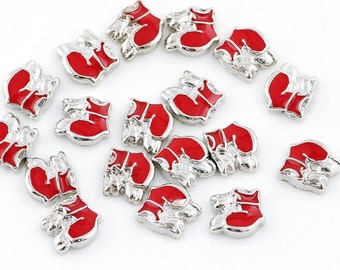 Shoes floating Charms for Living Lockets, Glass Memory Lockets