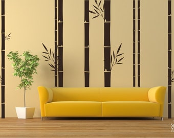 Bamboo Wall Decals Mural - Wall Stickers Custom Home Decor