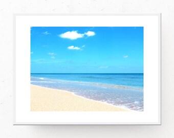 Tropical Beach Photo, Tropical Decor, Digital Download, Paradise Photo, Beach Decor, Tropical Beach Photograph, Tropical Wall Art