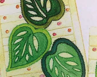 SUMMERSALE Sewing with Nancy Tropical Leaves Table Runner & Placemat pattern