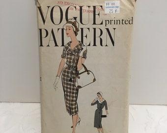 Vintage Vogue 9456 Pattern 1958 One Piece Dress Sz 20 Bust 40 Hip 42