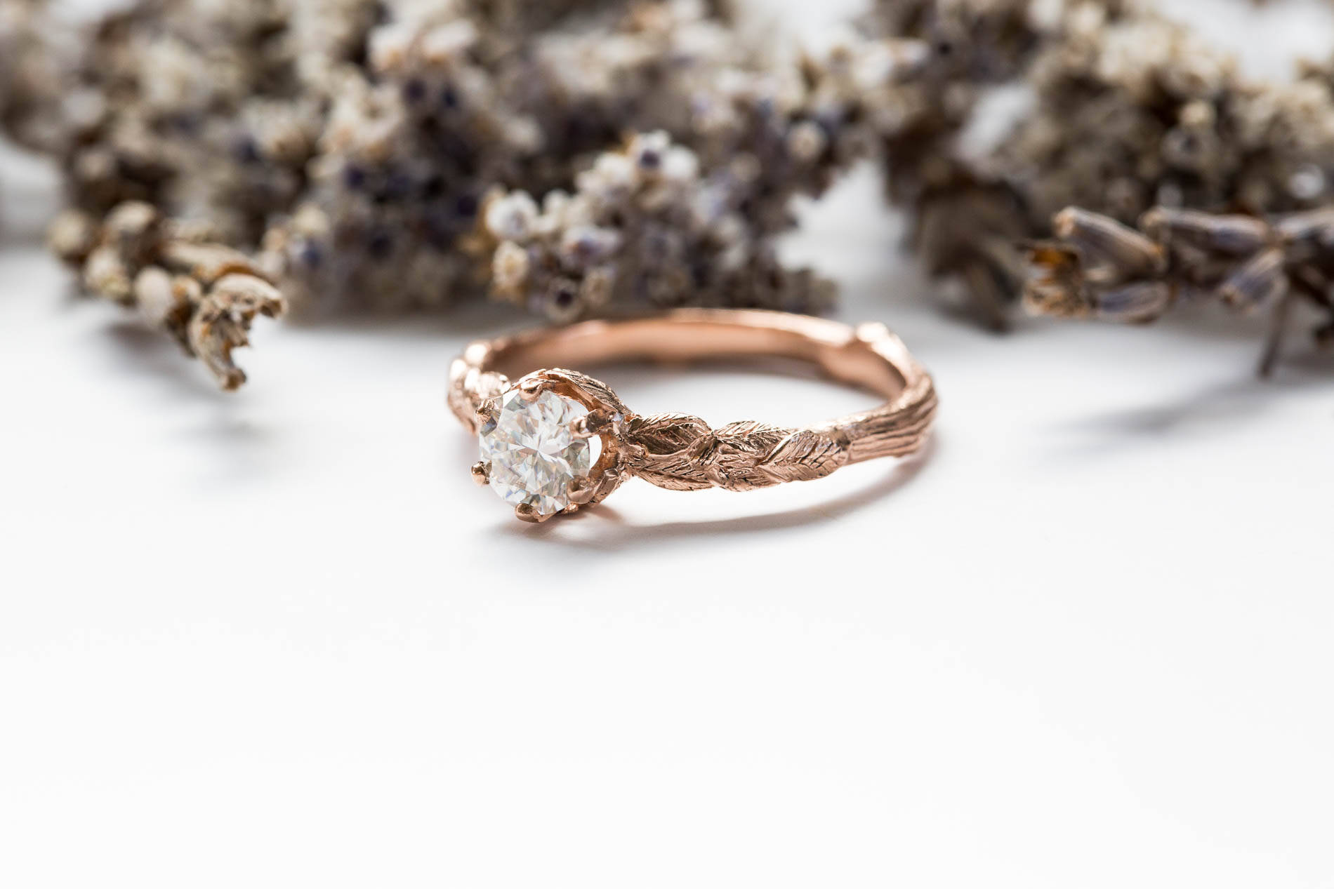 gold ring with products set hand engagement rings edited diamond created twig white