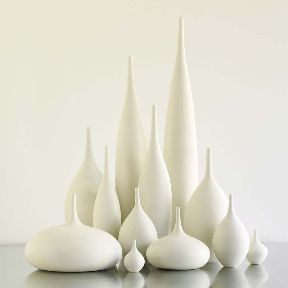 Grand collection of 12 modern white matte ceramic vases by description ceramics reviewsmspy