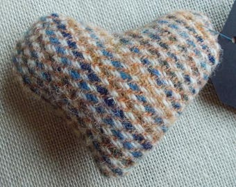 Valentines Pincushion heart made from vintage Harris Tweed
