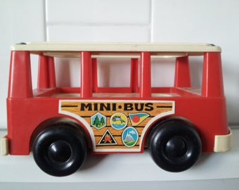 Vintage 1969 fisher price mini BUS FP-141
