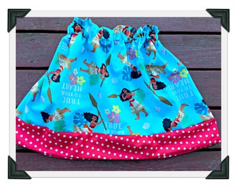 girls Moana skirt 2T 3T 4T 5T 4/5 6/6X 7/8 10/12 14/16 ready to ship