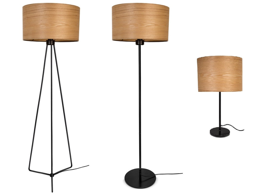 Floor Lamp   Wood Lamp   Veneer Lampshade   Natural ASH   Design Lighting    Modern Meets Nature   JAKOB COLLECTION