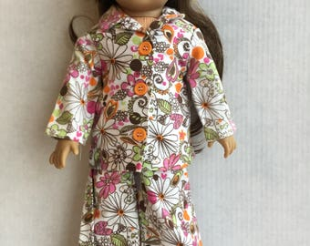 "2 piece flannel pajamas for 18"" dolls."