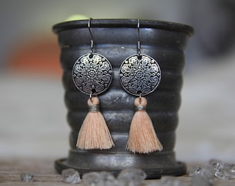 Mandala Tassel Earrings