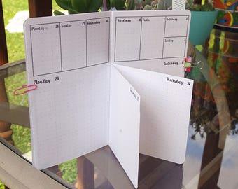 Dutch Door, June, 2018, Calendar, TN Insert, Traveler's Notebook insert, weekly, daily, Physical Copy