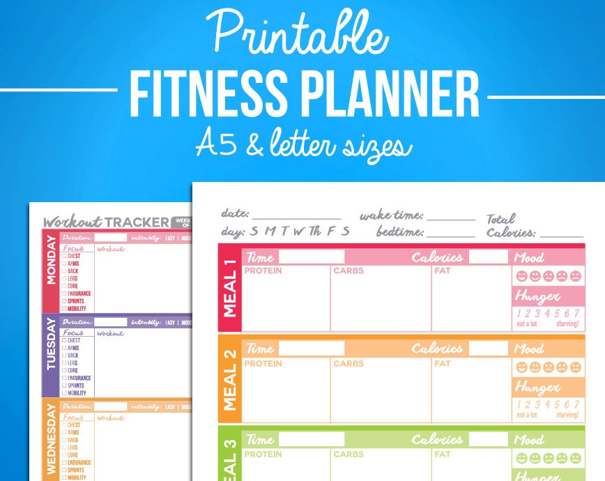 diet and exercise log printable free printable food journal 6 different designs