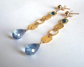 Mystic Quartz Earrings- Apatite, Gold Filled