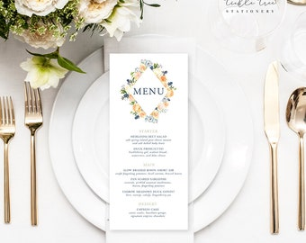 Thistle & Bloom - Menu Cards (Style 13796)