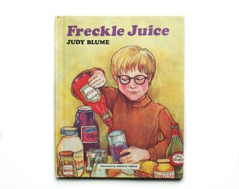 Freckle Juice by Judy Blume illustrated by Sonia O. Lisker 1971 Weekly Reader Hardcover Vintage Children's Book