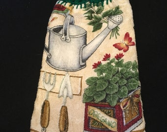 Watercan Double Sided Kitchen Hand Towel Paddy Green 3