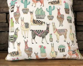Quirky Adventure Alpaca Home Decor/Nursery Decor Deaign Pillow