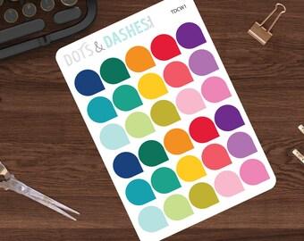 Teardrop stickers,functional planner stickers, functional sticker, functional stickers (15 Matte Stickers) (TDCW1)