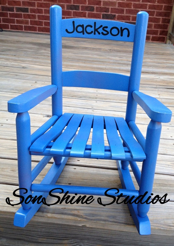 Name decal for childs rocking chair negle Image collections