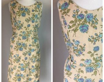 Vintage 60's Floral Shift Day Dress