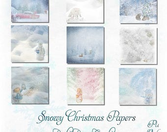 Snowy Christmas papers