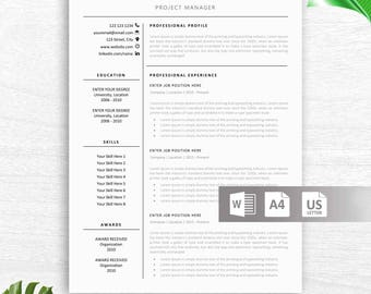 Teacher Resume Template for Word | Teacher CV Template, Elementary Resume, Teaching Resume, Administration Resume | Instant Download