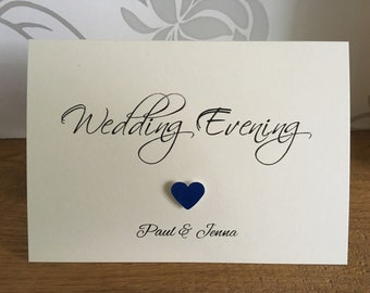 Personalised Evening Wedding Invitation (Reception)
