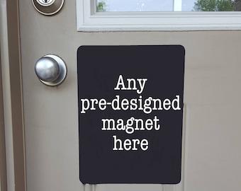 Custom Door Magnet, Custom Door Sign, No Soliciting Door Sign, Baby Sleeping Door Magnet, Barking Dog Sign, Do Not Ring Doorbell Sign, Shift