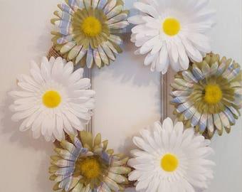 Daisy wreath, spring wreath, summer wreath, floral wreath, flower wreath, summertime