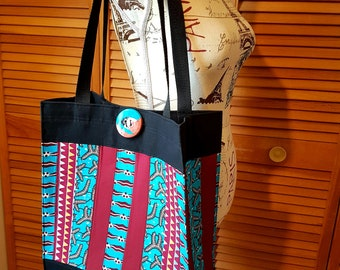 Patchwork shopping bag - African fabrics