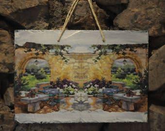 Slate theme table: terrace