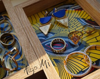Trinket box // Desk Tidy // Organiser // African Print// Housewarming Gift // Home Decor