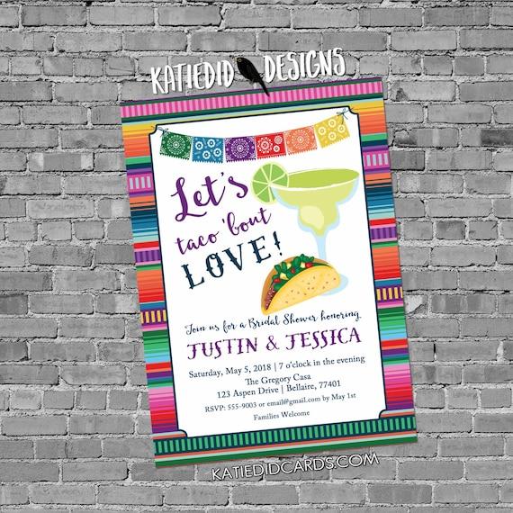Fiesta Invitation couples shower bridal taco margarita day dead muertos cinco de mayo stock the bar I do BBQ engagement party | 305 Katiedid