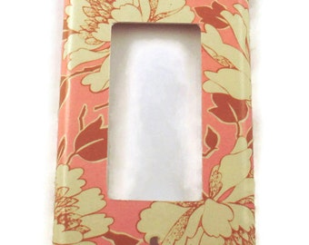 Rocker Light Switch Cover Wall Decor Switchplate in Tree Peony Pink (310R)