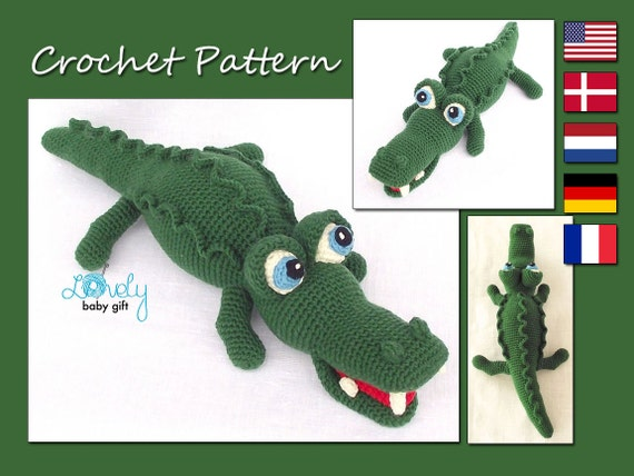 Amigurumi Pattern Crochet Alligator Amigurumi Animal Crocodile