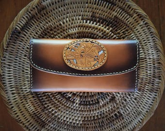 Ladies Leather Clutch Wallet