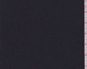 Black/Steel Grey Polyester Suiting, Fabric By The Yard