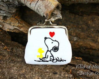Snoopy & Woodstock Coin Purse, Charlie Brown, Money Pouch, Best Friend, Wallet, Snoopy, Woodstock, Wallet, Knotts Berry Farm, Christmas Gift