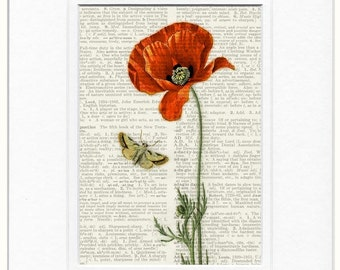 poppy II dictionary page print