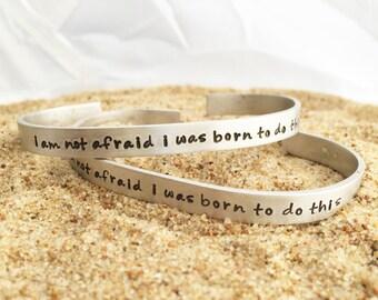 Joan of Arc quote bracelet - Inspirational Bracelet - Quote Bracelet - Pewter Bracelet - Saint Quote - Sporty Girl Jewelry