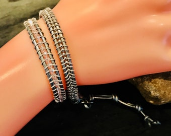 Crystal Wrap Bead Leather Bracelet