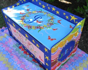 Toy Chest for Kids' Playroom Storage Custom Toy Box Personalized Children's Furniture