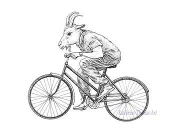 Original Artwork: Goat Rider