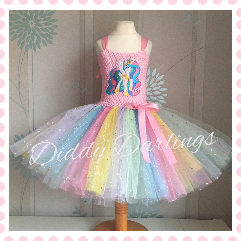 Sparkly Princess Celestia Tutu Dress My Little Pony Tutu
