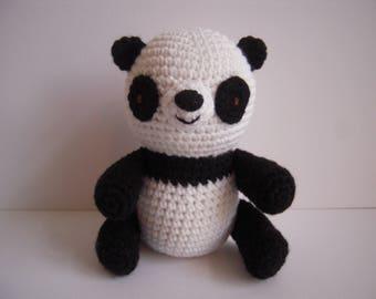 Crocheted Handmade Stuffed Amigurumi Panda Bear