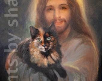 Calico Cat with Jesus